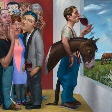 Michael Abraham, A Fine Bouquet – Urban, Suburban, Rural, 2014, Oil on Linen, 48 x 54 inches